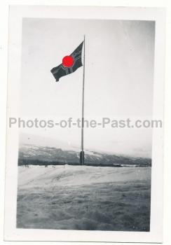 Hakenkreuz Fahne Grong Norwegen