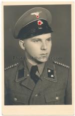 SS Portrait SD Oberscharführer mit Schirmmütze
