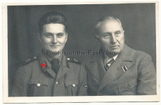 Portrait SS VT Standarte 2 GERMANIA Vater und Sohn