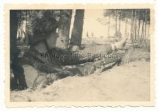 Scharfschütze der Wehrmacht mit Ritterkreuz und Zielfernrohr Karabiner Gewehr !