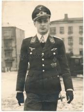 Ritterkreuzträger der Luftwaffe ! Pilot mit Flugzeugführer Orden und Frontflugspange !