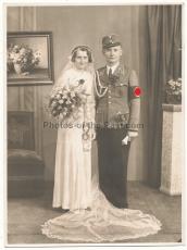 SA Sturmführer mit Dolch ! Hochzeit Portrait Foto !
