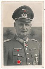 Portrait Foto Eichenlaubträger Generalleutnant Schmidt 19. Panzer Division