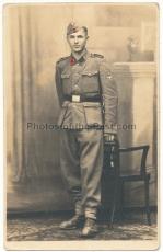Portrait Foto Waffen SS Schütze
