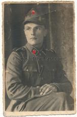 Portrait Foto Waffen SS Rottenführer gefallen in Nordfinnland 1943