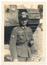 Deutsches Kreuz in Gold Träger Kurt Creuznacher mit Panzervernichter Abzeichen in Smolensk Russland