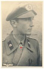 Portrait Foto Ritterkreuzträger Hans Georg von Ramin Panzerjäger Abteilung 53 in Sturmgeschütz Uniform