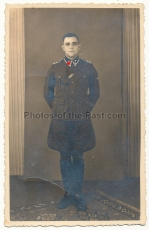 Portrait Waffen SS Oberscharführer mit Ärmelband Der Führer