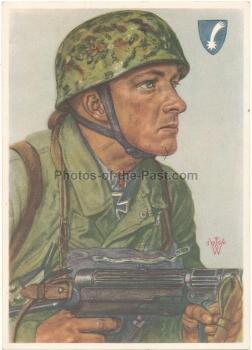 Willrich VDA Ritterkreuzträger Postkarte Fallschirmjäger Feldwebel Arpke