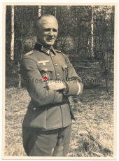 Portrait Oberst Bruno Weikinn Deutsches Kreuz in Gold Träger Kommandeur Artillerie Regiment 1 DKiG