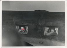 Pressefoto Adolf Hitler und Mussolini im Flugzeug bei Uman