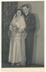 Portrait Waffen SS Unterscharführer mit Ärmelband DER FÜHRER - Hochzeitsfoto Wien