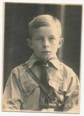 Pass Portrait Hitlerjunge - Gau Nord Nordsee - Atelier Wesermünde - HJ - Hitlerjugend