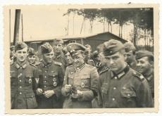 3 Fotos Eichenlaubträger Unteroffizier Georg Rietscher aus Schweinserden bei Kamenz - Panzerknacker vom Infanterie Regiment 513