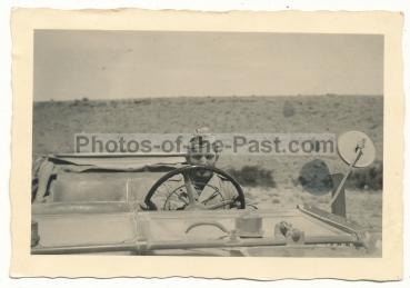 Landser Deutsches Afrika Korps DAK im Mercedes Kübelwagen PKW