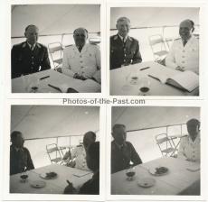 4 Fotos Generalfeldmarschall Kesselring hat gie Generäle Lörzer und Rüdel zu Gast im Osten - Ritterkreuzträger der Luftwaffe