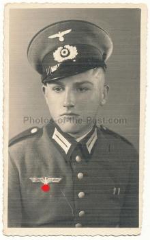 Portrait Infanterie Schirmmütze alter Art
