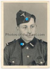 Portrait Waffen SS Rottenführer mit Schiffchen - Totenkopfverbände !