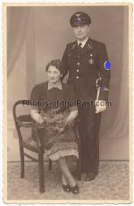Portrait SS Oberscharführer mit Ärmelband SS-Inspektion und SS Degen 1939