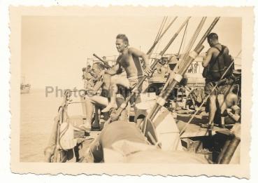Deutsches Afrika Korps DAK Landser auf Transporter Schiff