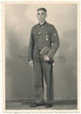 Portrait Waffen SS Oberscharführer Ärmelband GERMANIA