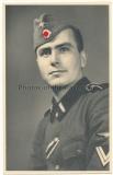 Portrait Waffen SS Rottenführer mit Schiffchen !