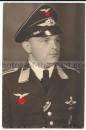Portrait Luftwaffe Kampfflieger Frontflugspange und Eisernes Kreuz Schaulen 1942