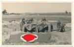 Panzerjäger mit 3,7cm Pak und Hakenkreuz Fahne zur Fliegerkennung!