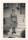 Luftwaffenhelferin Frau in Luftwaffen Uniform