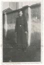 SS Mann mit Uniform Mantel