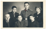 SS Hauptscharführer with family Portrait photo