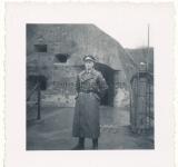 Paratrooper knight´s cross officer Hauptmann Witzig in front of Fort Eben Emael