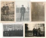 5 Fotos SS Panzermänner davon eines beschriftet Frankreich 1943