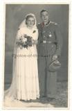 Portrait Foto Waffen SS Leibstandarte Oberscharführer mit Ärmelband Adolf Hitler ! Hochzeitsfoto !