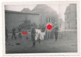 3 Fotos Wehrmacht Vereidigung in Breslau Polen im Dezember 1944 ! Panzerfäuste !