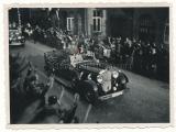 Adolf Hitler in Mercedes Benz car in Springe on the way to the Bückeberg 1933