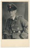 Portrait Waffen SS Unterscharführer mit Ärmelband Wiking