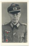 Portrait Tiger Panzer Kommandant Willibald Krakow schwere Panzer Abteilung 503 Deutsches Kreuz in Gold DKiG EK I