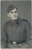 Portrait Waffen SS Sturmmann with cuff title GERMANIA