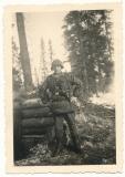 Waffen SS Unterscharführer with palm camo jacket