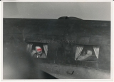 Press photo Adolf Hitler and Mussolini in airplane at Uman