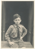 Portrait Hitler youth boy with HJ badge