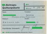 SS Beitrags Quittungskarte SS Sturm 9 III 69 Halver in Westfalen 1939