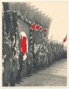 Konvolut 3 Fotos Berlin Lichterfelde 1935 Musik Fahnen Arbeitsfront