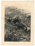 Toter polnischer Soldat auf dem Schlachtfeld bei Pankalla Polen 1939