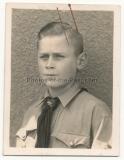 Pass Portrait Hitlerjunge Jahrgang 1927 - Atelier Hamburg - HJ - Hitlerjugend