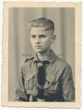Portrait Hitlerjunge - Atelier Leubnitz Werdau Zwickau Sachsen - HJ - Hitlerjugend