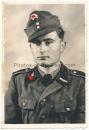 Portrait SS Rottenführer Gebirgsjäger Totenkopf Abzeichen 1. Form