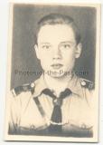 Pass Portrait Hitlerjunge - Schulterklappen 158 - Atelier Bielefeld - HJ - Hitlerjugend