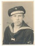 Hitlerjunge der Marine HJ mit Mützenband Segelschulschiff Horst Wessel - Atelier Fürstenwalde Spree